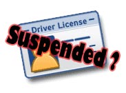 Suspended license and bankruptcy